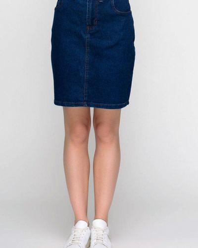 Джинсовая юбка синяя F'91