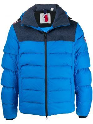 С рукавами вязаная синяя длинная куртка Rossignol