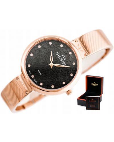 Klasyczny czarny zegarek Bisset