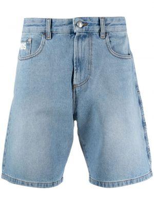 Niebieskie jeansy bawełniane z paskiem Gcds