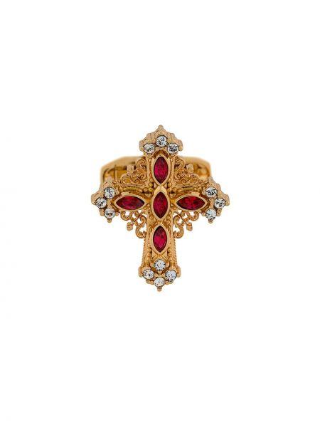 Złote spinki do mankietów - białe Dolce And Gabbana