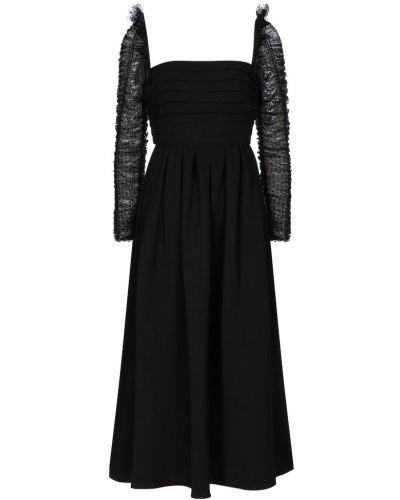 Платье миди - черное Self-portrait