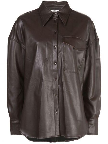 Klasyczna koszula - brązowa Tibi