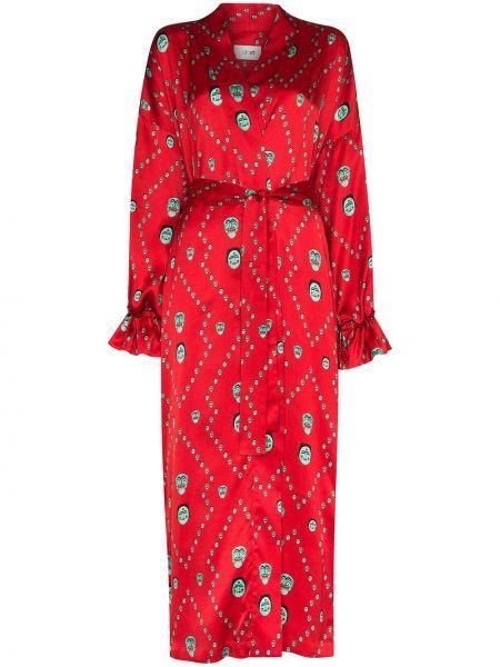 Kimono z paskiem z rękawami Kirin