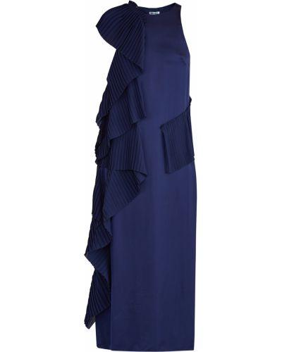 Платье миди плиссированное с оборками Kenzo