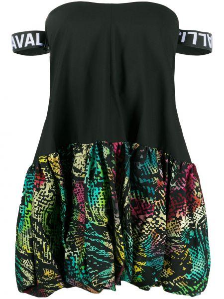 Открытое черное платье с вырезом Just Cavalli