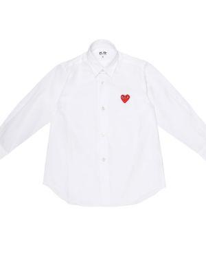 Biała koszula bawełniana Comme De Garã§ons Play Kids