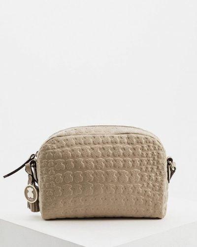 Кожаная сумка - бежевая Tous