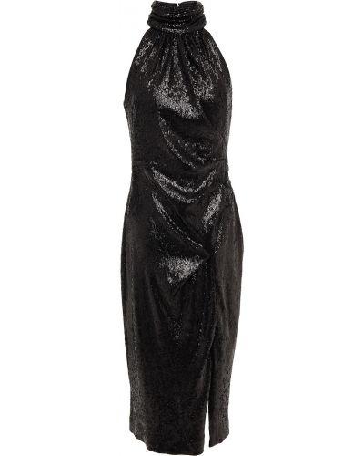 Трикотажное платье миди - черное Rachel Zoe