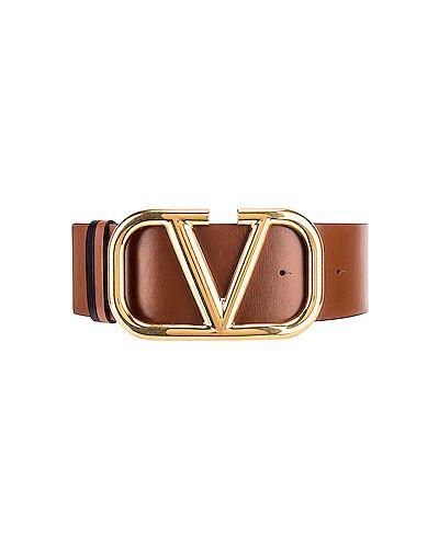 Кожаный ремень - черный Valentino Garavani