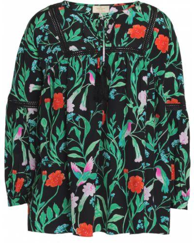 Шелковая блузка - черная Kate Spade New York
