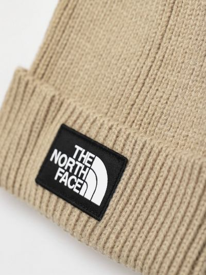 Вязаная шапка бини - бежевая The North Face