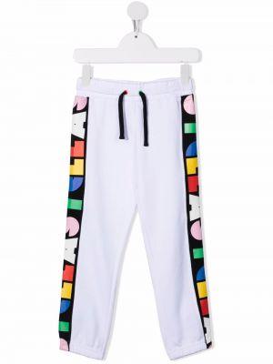 Białe spodnie bawełniane Stella Mccartney Kids