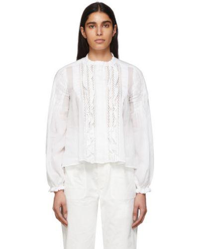 Блузка с длинным рукавом с открытыми плечами с воротником-стойкой Isabel Marant