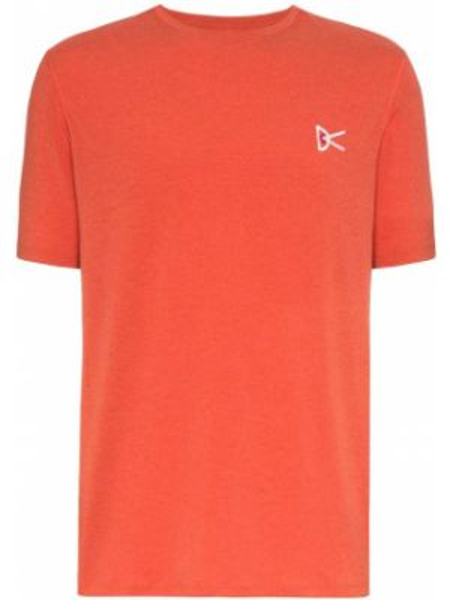 Pomarańczowy t-shirt z printem do pracy District Vision