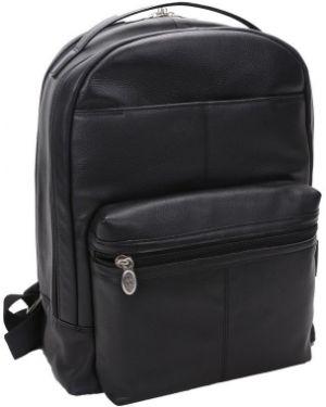 Czarny plecak na laptopa skórzany Mcklein