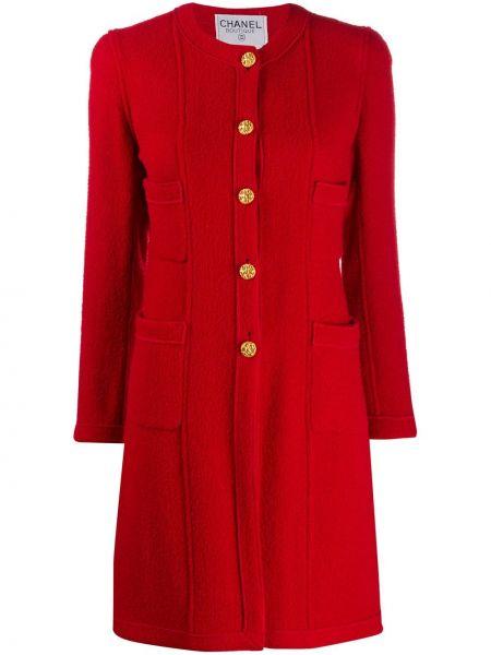 Długi płaszcz z kieszeniami z kołnierzem Chanel Pre-owned