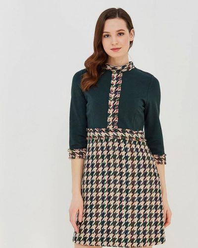 Зеленое платье осеннее Lion Of Porches