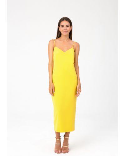 Платье с открытой спиной - желтое Magnetic