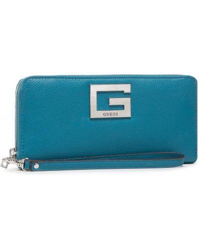 Niebieski portfel przeoczenie Guess