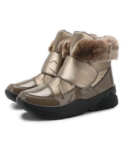 Текстильные лаковые ботинки с отворотом Jog Dog