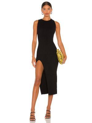 Sukienka prążkowana - czarna Atoir