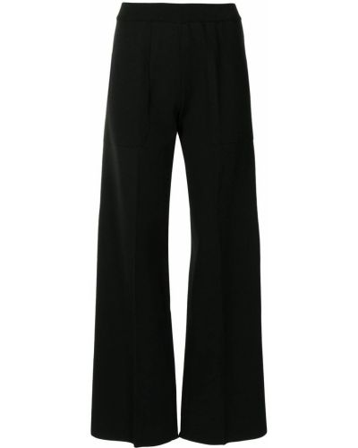 Czarne spodnie z wiskozy Mrz