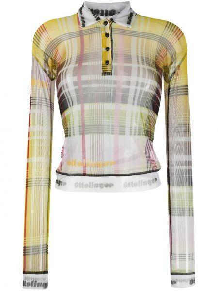 С рукавами желтая рубашка с воротником на пуговицах Ottolinger