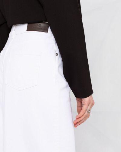 Широкие джинсы с завышенной талией - белые Victoria Beckham