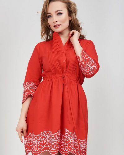 Красное платье весеннее Olko