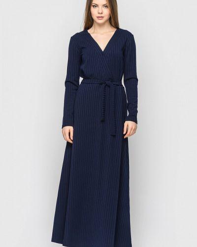 Платье осеннее синее Helenka