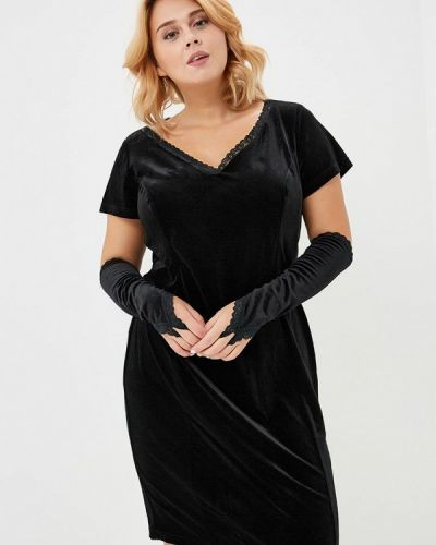 Повседневное платье осеннее черное Jp