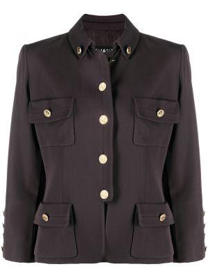 Шерстяной пиджак - коричневый Chanel Pre-owned