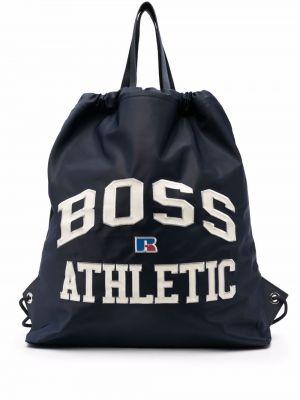 Niebieska torba na ramię skórzana Boss Hugo Boss