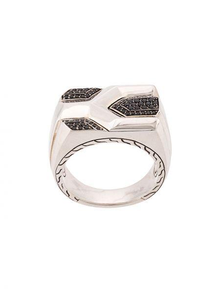 Асимметричное серебряное кольцо c сапфиром John Hardy
