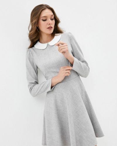 Серое платье-футляр Lorani