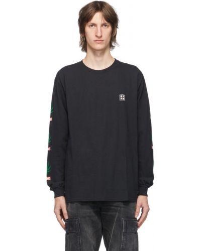 Черная рубашка с воротником с манжетами с длинными рукавами Wacko Maria