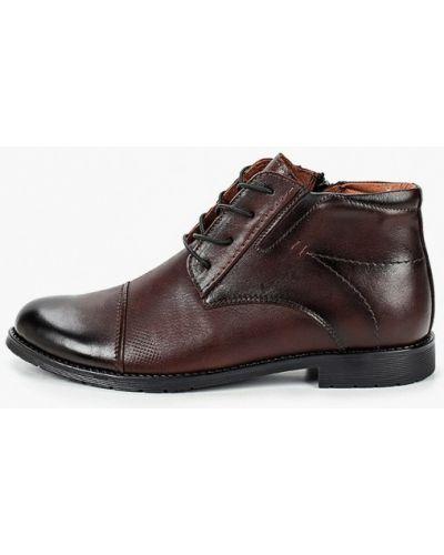 Коричневые кожаные ботинки Alessio Nesca