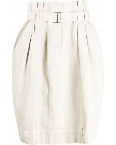 Spódnica rozkloszowana - biała Lemaire
