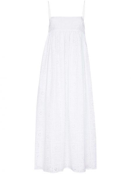 Белое хлопковое платье макси Matteau
