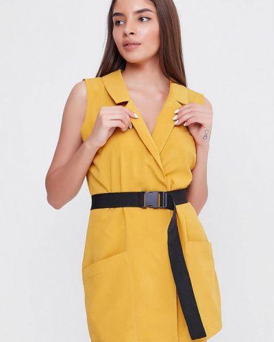Комбинезон с шортами желтый Sfn