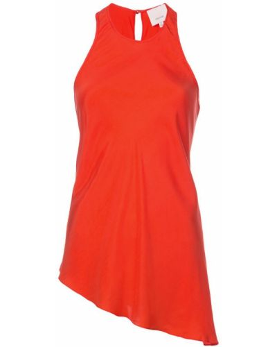 Блузка без рукавов красная Cinq A Sept