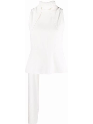 Biały top bez rękawów z wiskozy Roland Mouret