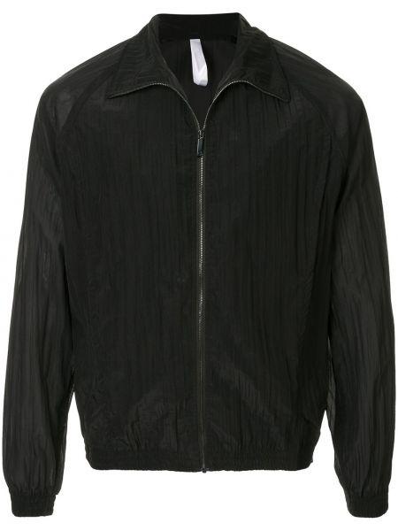 Czarna długa kurtka z długimi rękawami Cottweiler