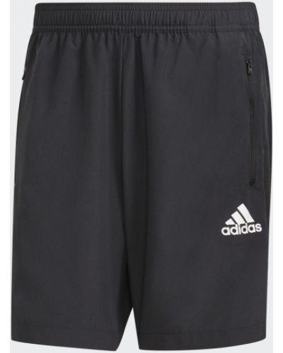 Черные спортивные шорты с карманами для фитнеса Adidas