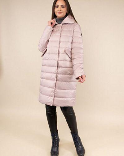 Прямое утепленное пальто с воротником каляев