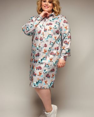 Платье макси платье-рубашка с отложным воротником Jetty-plus