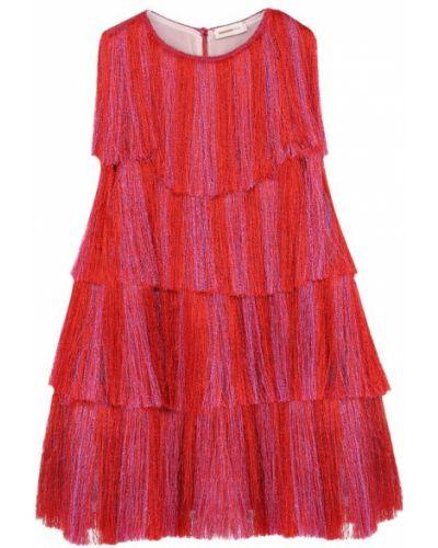 Платье мини с бахромой с люрексом Missoni