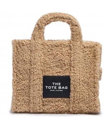 Бежевая сумка из полиэстера Marc Jacobs
