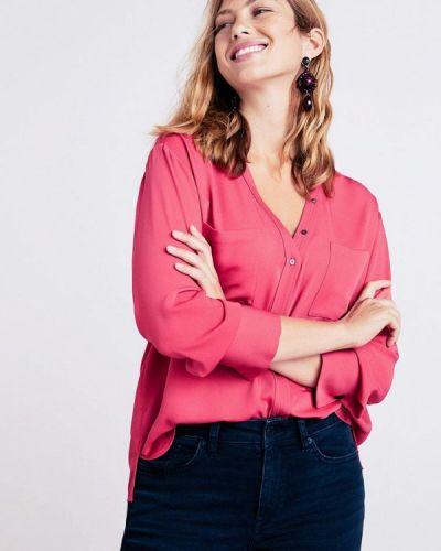Розовая блузка с длинным рукавом Violeta By Mango
